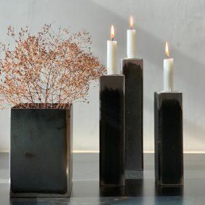 פמוט מברזל גולמי |  Unique Iron Candle Holder