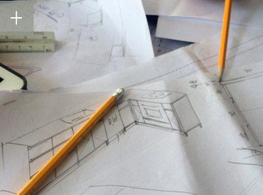 סקיצות אדריכלות מטבח