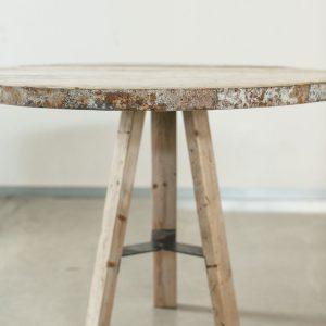שולחן עגול מעץ |  Recycled Wood Round Table